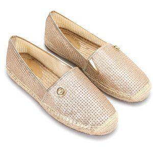 Michael Kors Kendrick metallic espadrille shoes 7